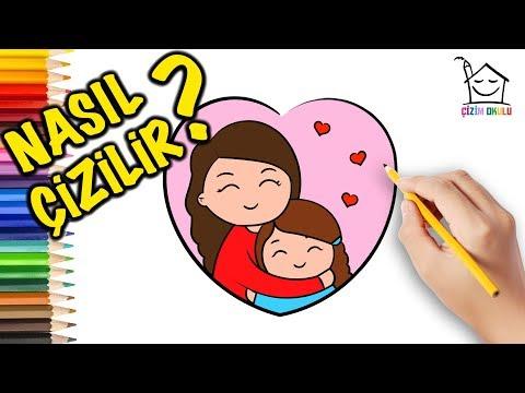 Nasıl Çizilir? -Anneler Günü  -  Resim Çizme - ÇİZİM OKULU
