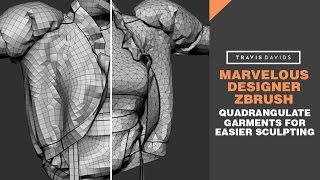 Marvelous Designer & Zbrush - Quadrangulate Garments For Easier Sculpting