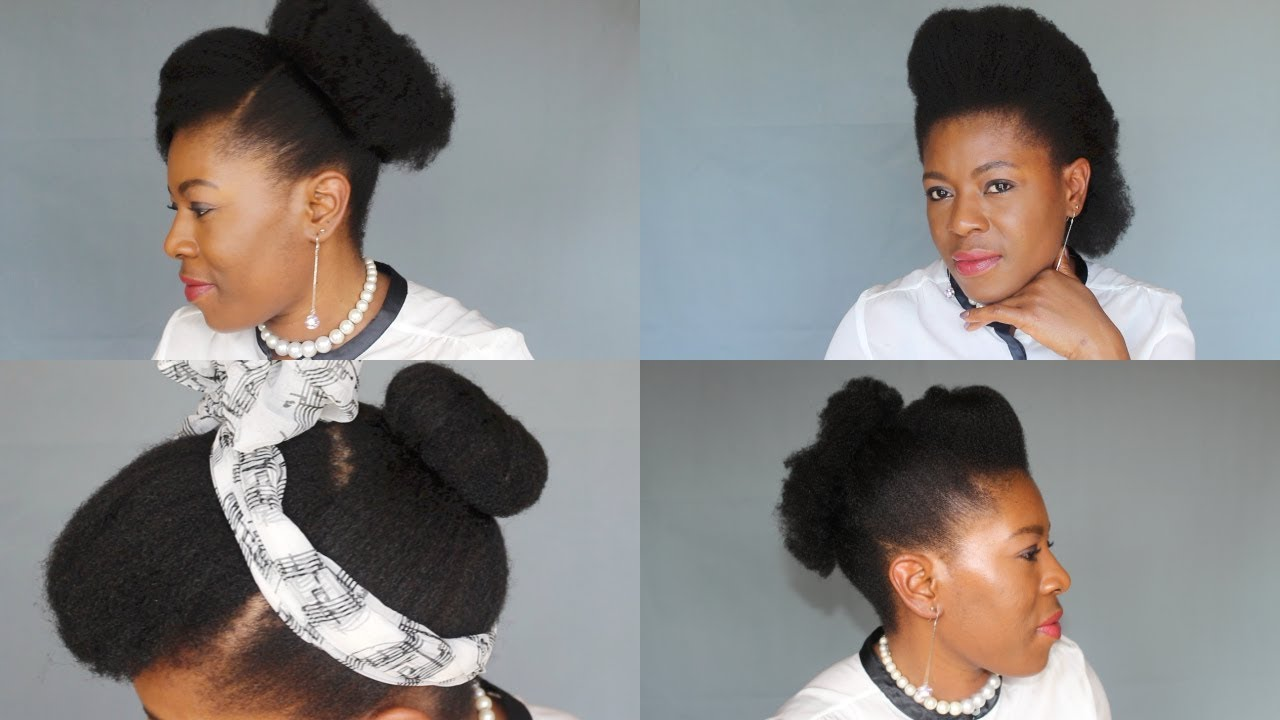 4 Easy & Quick Natural Hairstyles on Short Hair(4C) NO GEL-- neknatural