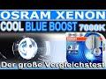 OSRAM Xenon Cool Blue BOOST CBB 7000K | Die bessere Cool Blue Intense ? | Der große Vergleichstest