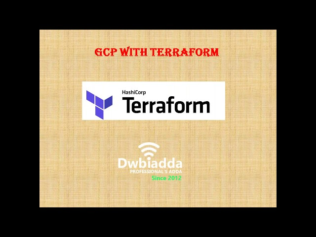 TERRAFORM TUTORIAL ON GOOGLE CLOUD PLATFORM