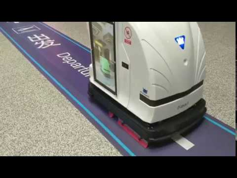 Autonomous floor cleaning robot scrubber Global First unmanned Interactive  Media Cleaning Robot