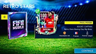 I GOT 100 OVR RETRO STAR POGBA ! Greatest retro master packs opening and gameplay in fifa Mobile 19