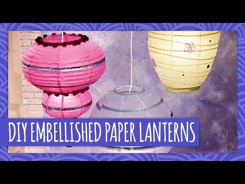 DIY Embellished Paper Lanterns - Throwback Thursday - HGTV Handmade