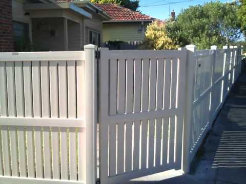 Existing Wood Fence Posts With Vinyl Fence Panels Youtube