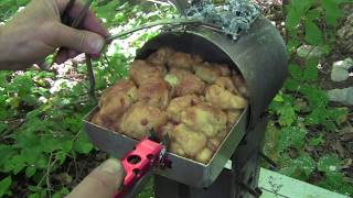 (Short) Camping Hack! Easy Bake Oven From A Cook Pot Turned Sideways!