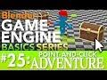 Blender Game Engine Basics Tutorial #25: Point-and-Click Adventure #b3d #gamelogic