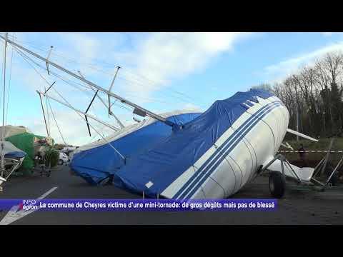 La commune de Cheyres victime d'une mini-tornade: de gros dégâts mais pas de blessé
