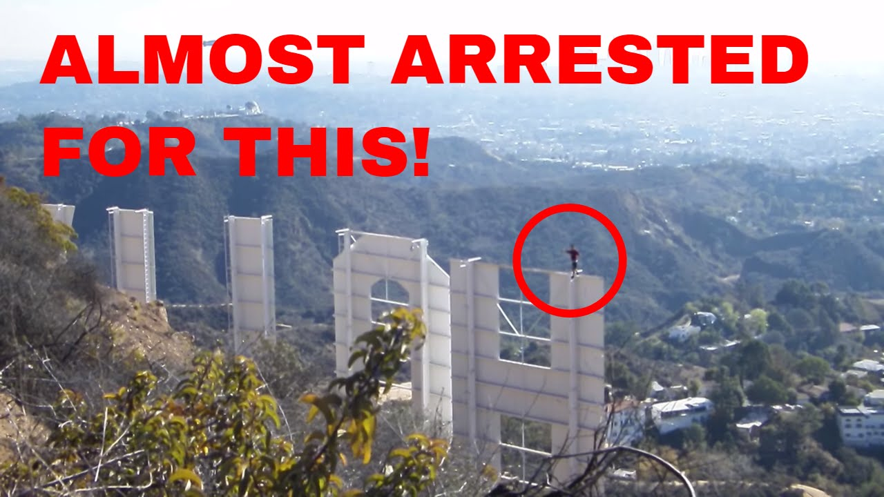 Climbing the hollywood sign youtube for Peg entwistle ghost caught on tape