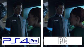 Detroit Become Human | PS4 Pro - PC | 4K Graphics Comparison