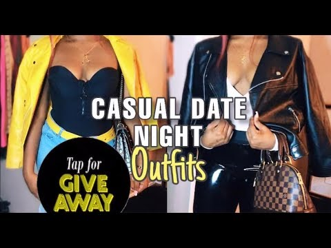 Casual Date Night Outfits   Leather Jacket Edition   CLOTHING GIVEAWAY 5