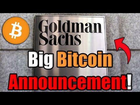 BREAKING: Goldman Sachs JUST Scheduled a MASSIVE Bitcoin Client Call | Best News on Bitcoin in 2020