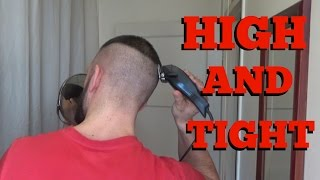 How to cut your own high and tight military recon haircut