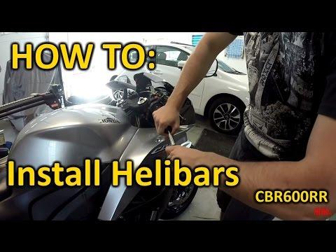 CBR600rr how to install Helibars/clipons