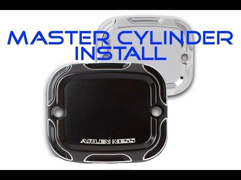 Arlen Ness Harley Davidson Motorcycle Master Cylinder Cover Installation Tutorial