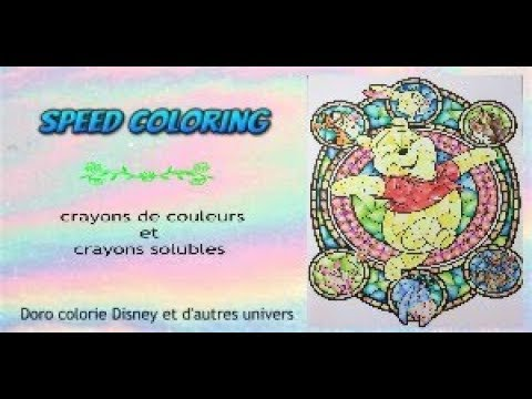 Speed coloring livre vitraux hachette heroes coloriage adulte youtube - Coloriage vitraux ...