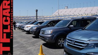 2016 Honda Pilot vs Explorer vs Pathfinder vs Highlander vs Traverse Mega Mashup Review