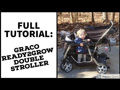 Graco Ready2Grow Click Connect Double Stroller Tutorial  👨👩👧👦 How To Open, Close & Move Seats