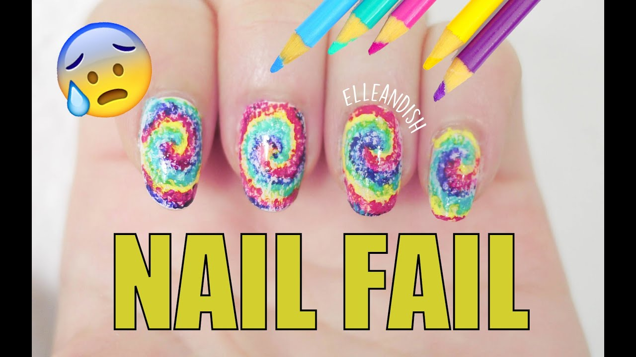 NAIL FAIL: DIY Nail Art Using Colored Pencils - YouTube