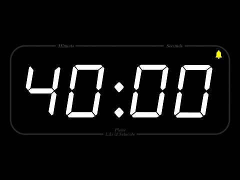 40 MINUTE - TIMER & ALARM - 1080p - COUNTDOWN