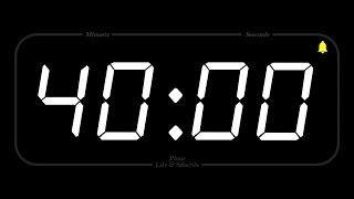 40 MINUTE - TIMER & ALARM - Full HD - COUNTDOWN