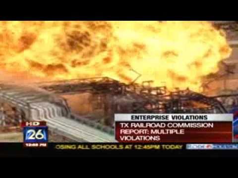Plant Explosion in Mont Belvieu, Texas