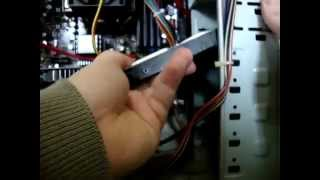 How to Install or Fit A PC Hard Drive and DVD Player Video