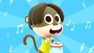 Monkey's Party | Nursery Rhymes For Cihldren | Kids Videos Songs