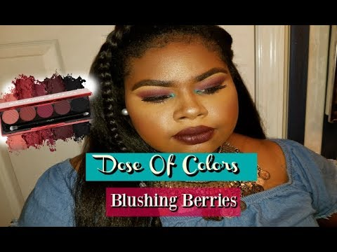 "Dose of Colors ""Blushing Berries"" Eyeshadow Tutorial Dark Skin  Jocelyn Nolton"