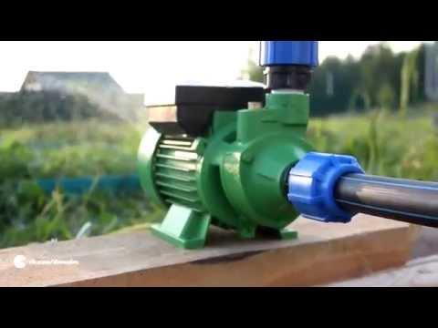 Вихревой центробежный насос Кратон PWP02 в системе полива огорода