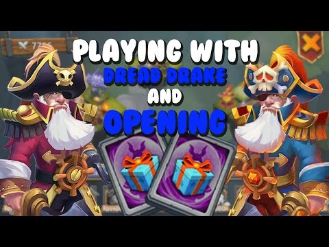 Castle Clash Playing With My Dread Drake & Opening Special Hero Cards