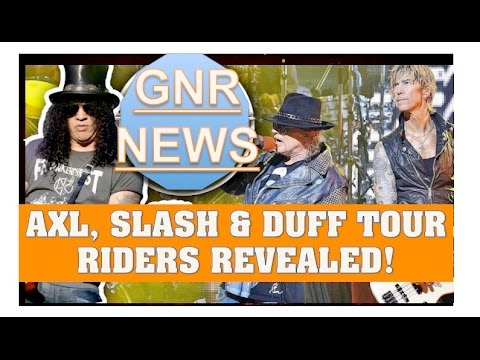 Guns N' Roses News  Axl, Duff and Slash Have Their Own Dressing Rooms Apart From the Band?