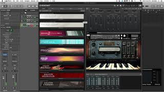 Logic Pro X Multi-timbral MIDI audio routing (Kontakt)