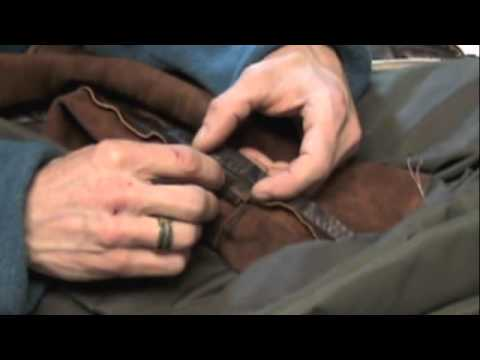 Leather Jacket repair session