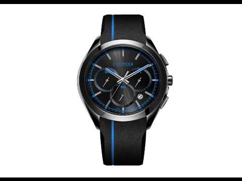 COMTEX 腕時計 ブラック スポーツ クロノグラフ ウオッチ クォーツ 時計 メンズ ブルー