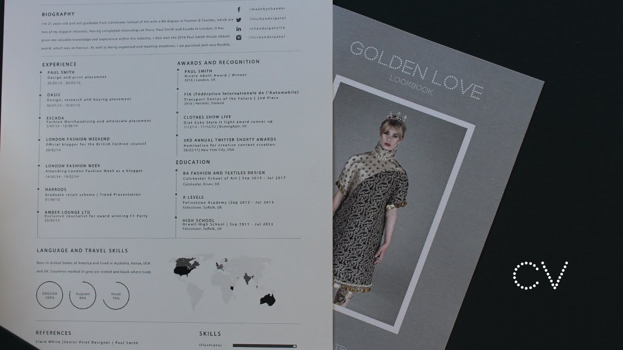 Fashion CV/Resume Tips - YouTube