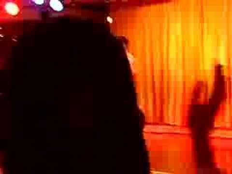 Derrick trying to sing karaoke