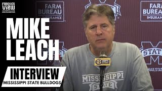 Mike Leach Hilarious Response to Question About His Face Mask Covering Fake Fans at Games