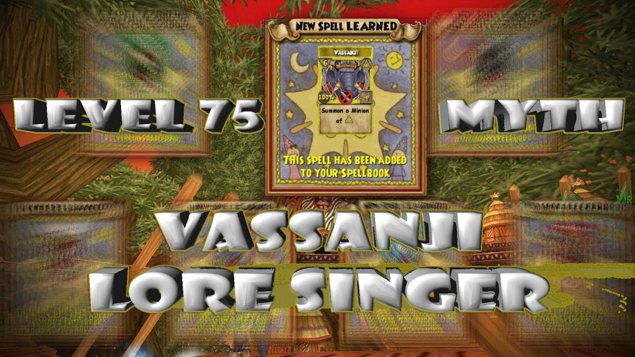 Wizard101 Vassanji Lore Singer: Myth Minion Level 75 by Heather  Shadowslinger