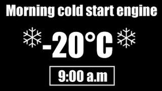 Hyundai Accent 2006 1.5 CRDi - Morning long cold start (-20°C)