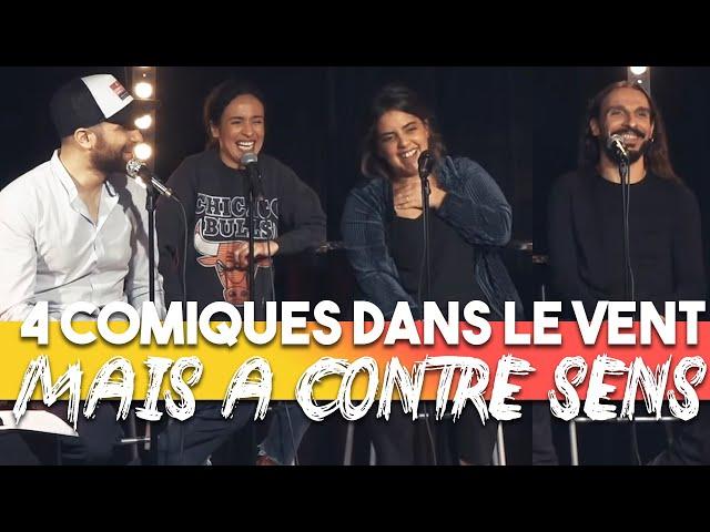 Ep 10 - Amelle Chahbi, Inès Reg, Dédo, Seb Mellia - Podcast 4 Comiques dans le vent