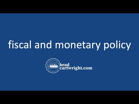 a macroeconomic overview of economics the monetary and fiscal policy in the united states