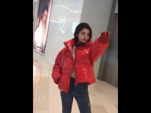 6 цветов зимняя глянцевая пуховая куртка женская оверсайз распродажа 11.11