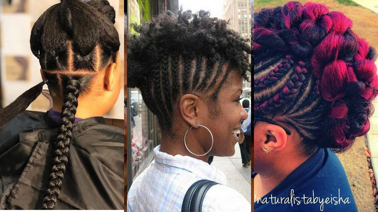 FOR THE LOVE OF BRAIDS: Medium Length Short Hair Can do this | AFRICAN BRAIDED HAIRSTYLES | Wendy