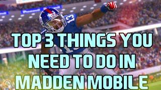 Madden Mobile 17 Top 3 Tips & Tricks For Beginners - Madden Mobile Tips & Tricks For Beginners