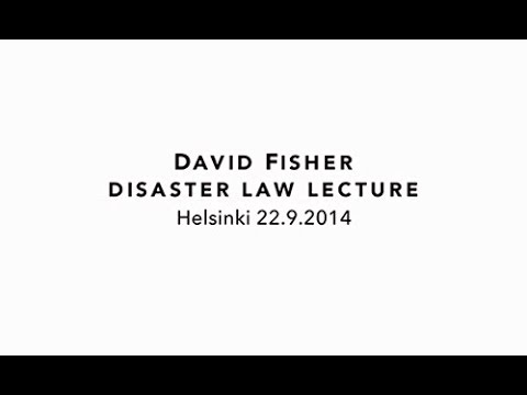 Presentation video: Legal preparedness for international and domes