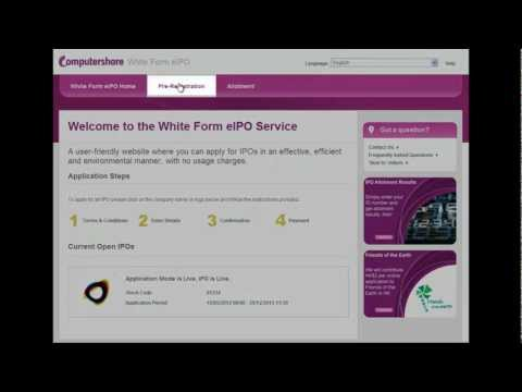 White Form eIPO Pre-Registration Services -- Updating details