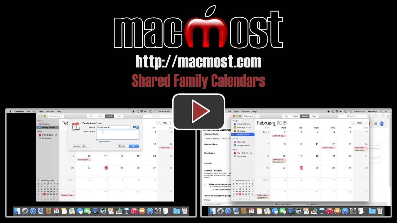 Family Calendar Sharing : Shared family calendars  youtube