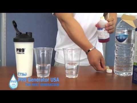 PH9 Generator Alkaline Water Bottle Test