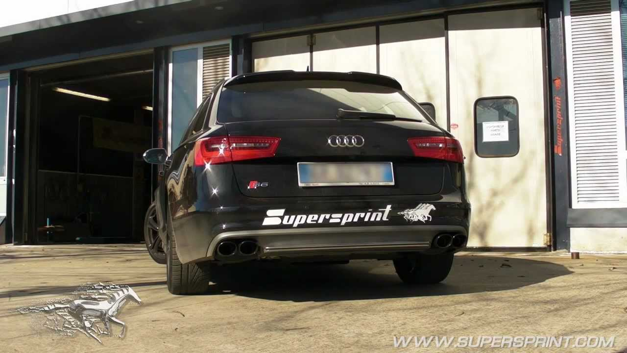 Audi S6 C7 / Typ 4G 4.0 V8 T - Supersprint Exhaust Sound - Giving the muscle back to the V8 ...